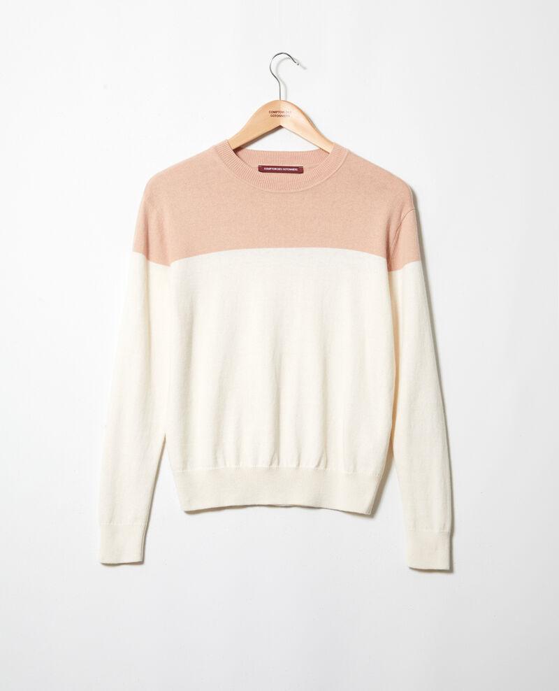 Jersey bicolor Pink beige Ilene