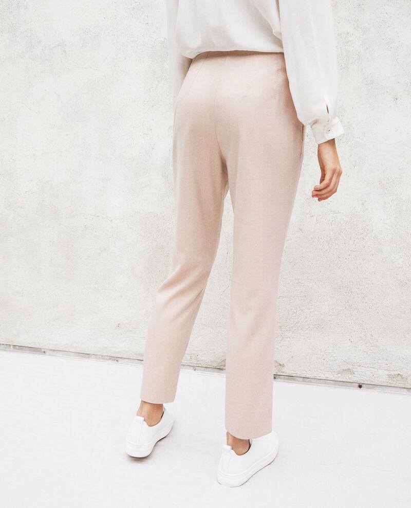 Pantalón de corte recto Pink beige Ilda