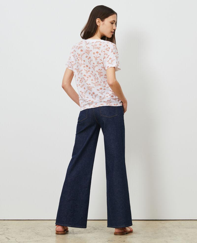 Camiseta de lino con cuello de pico Coronille optical Nayeli