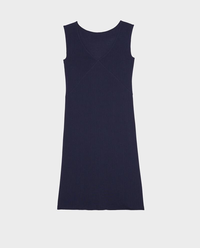 Vestido de algodón Maritime blue Liesse