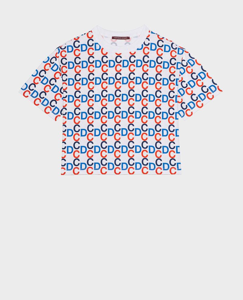 Camiseta de algodón Optical white Lenoy