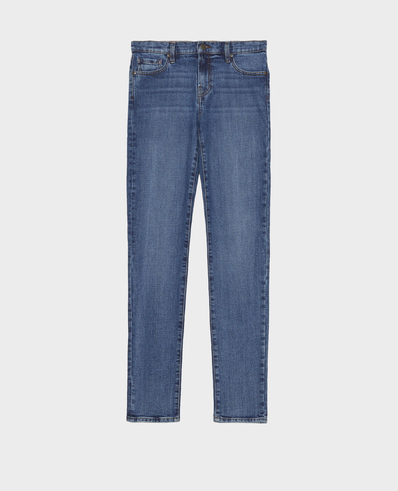 SLIM MID RISE - Jeans 5 bolsillos Denim medium wash Mandro
