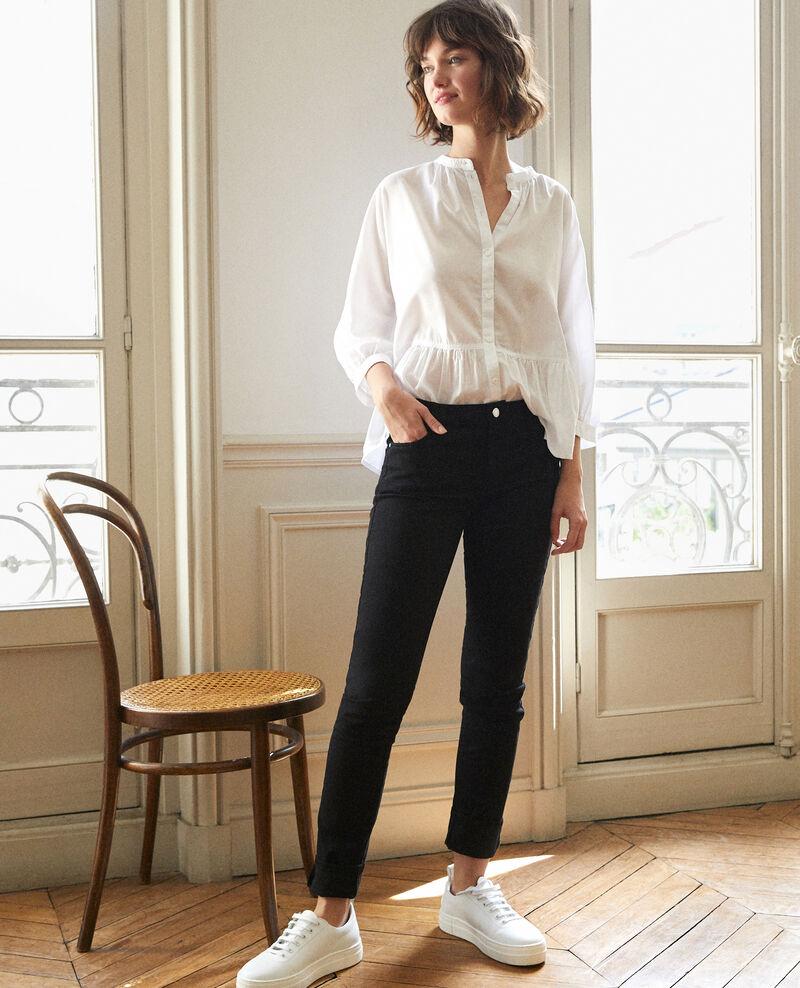 Jeans corte slim Negro Goneto