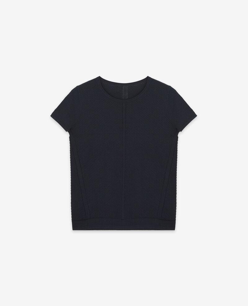Camiseta de punto Dark navy Deluz