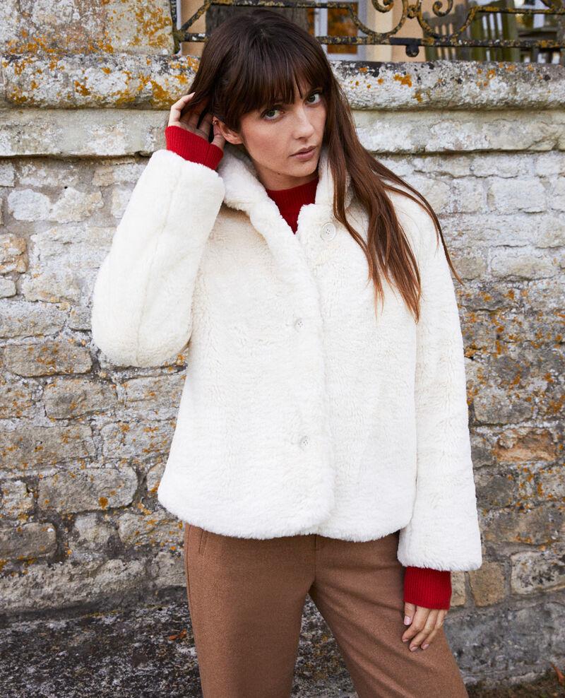 Abrigo corto de piel sintética Off white Jakou