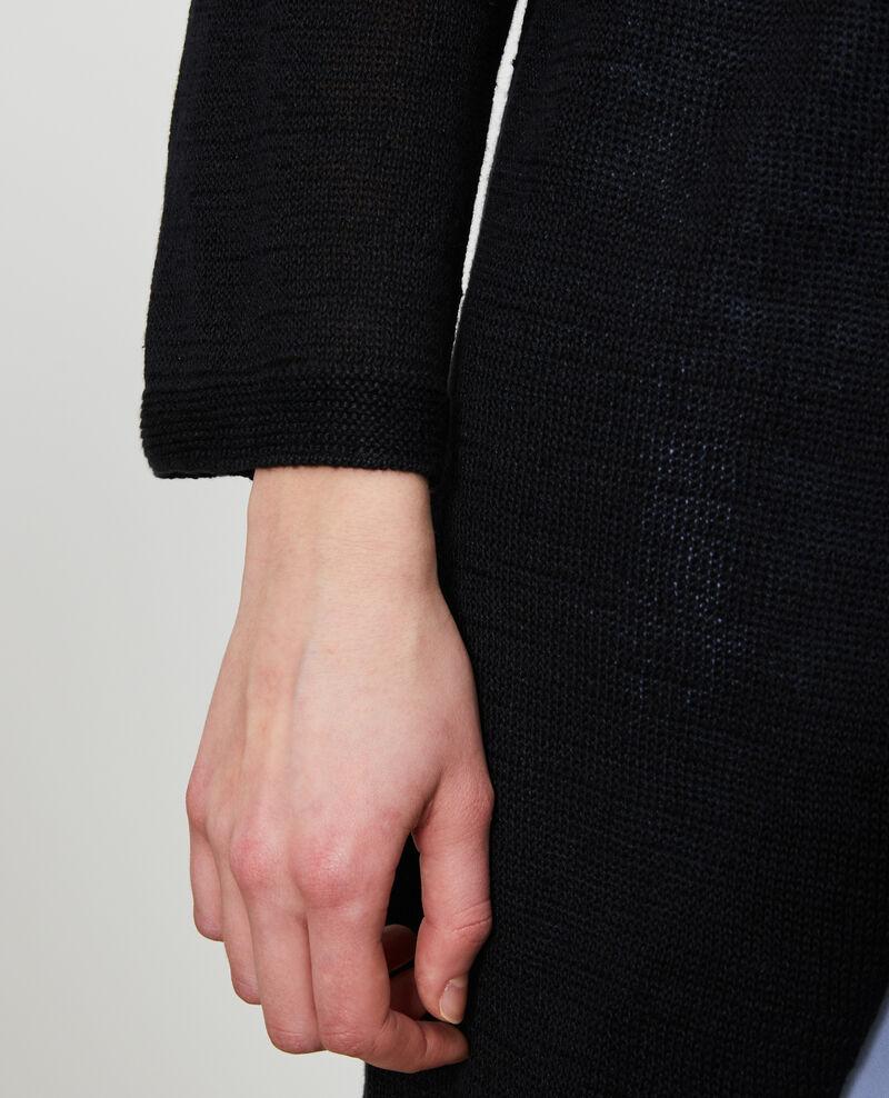 Cárdigan largo de lino Black beauty Lalima