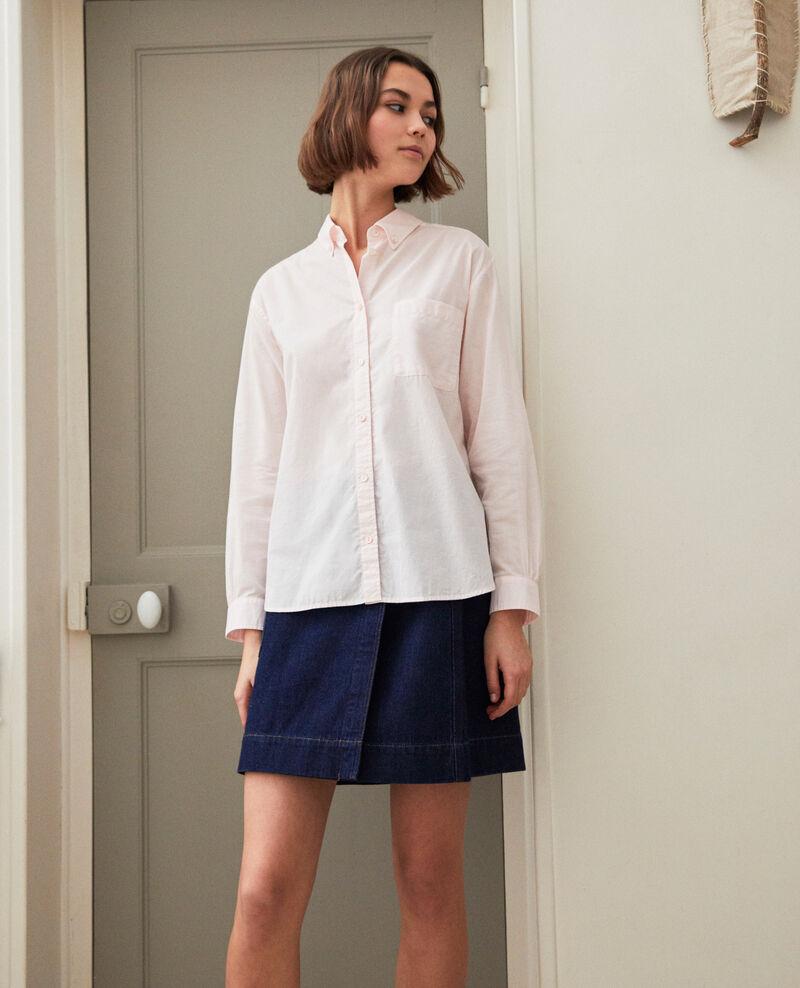 Camisa atemporal de algodón Pink Ibouya