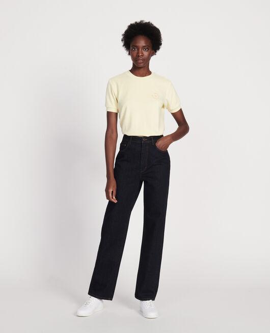 Jeans talle alto y corte recto DENIM RINSE