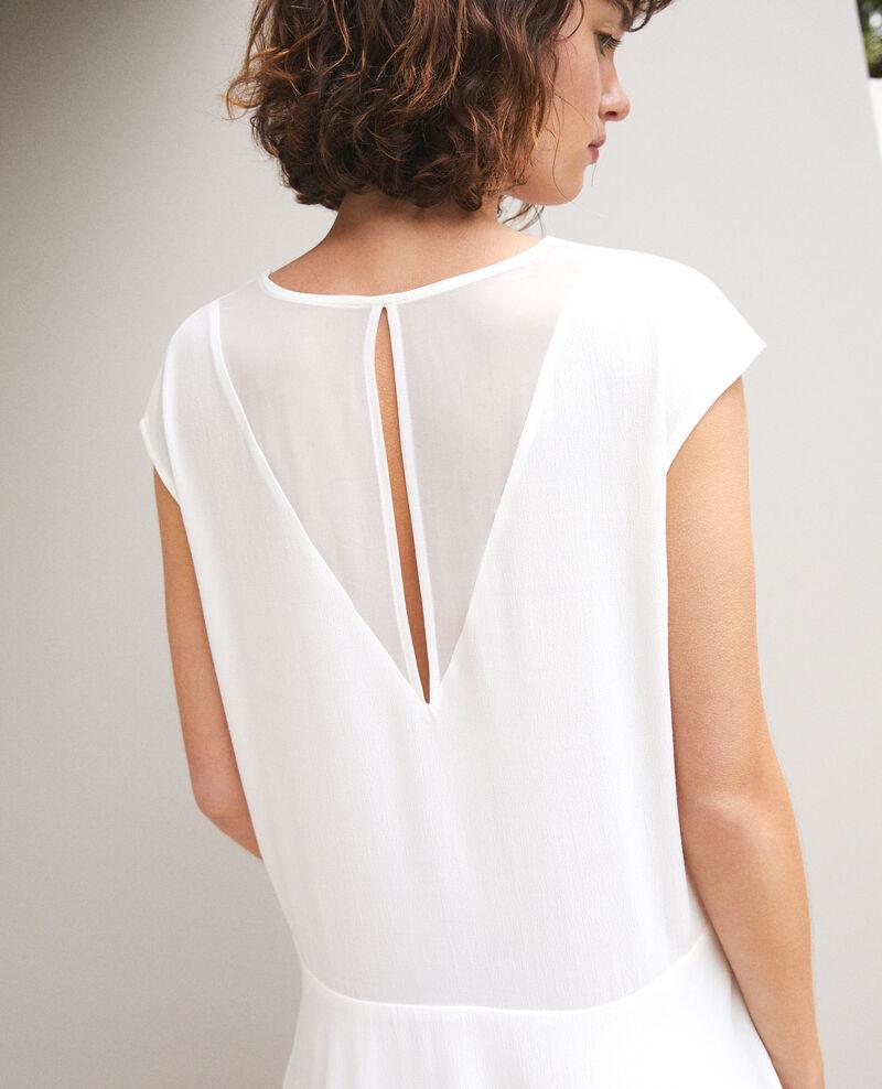 Vestido con escote de pico Blanco Fondant