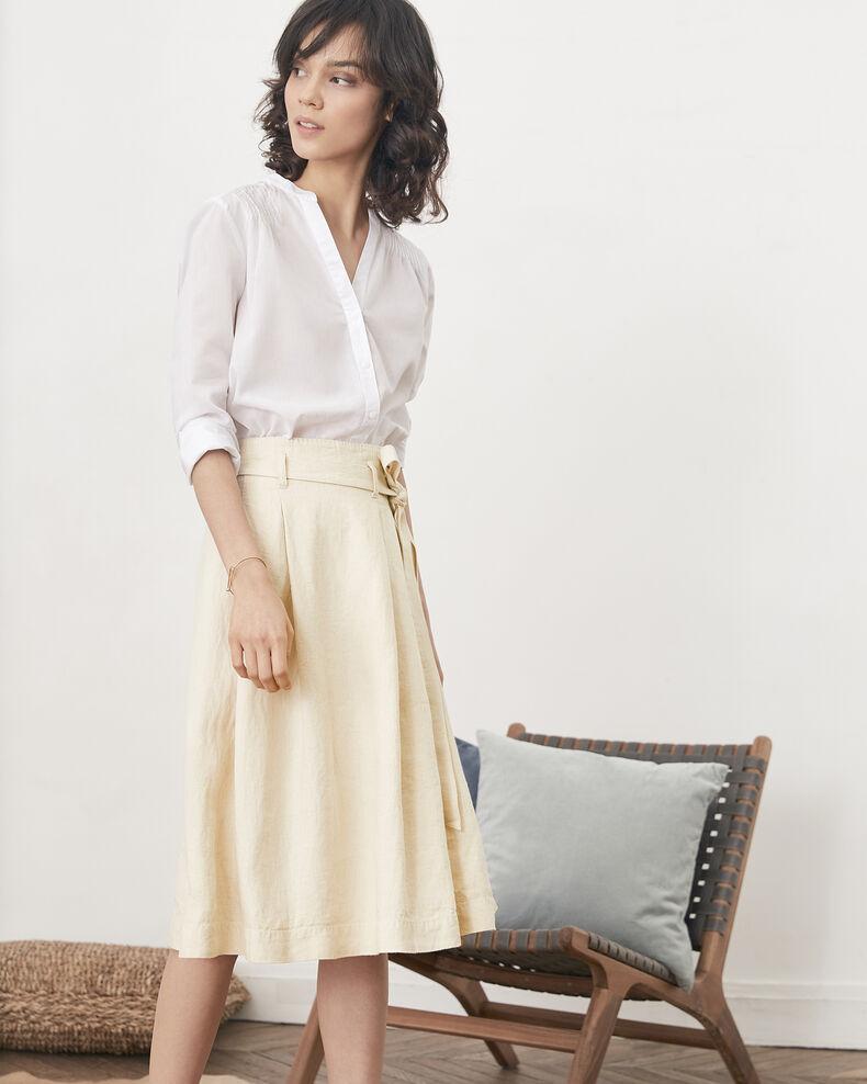 Falda de lino Natural Faheem