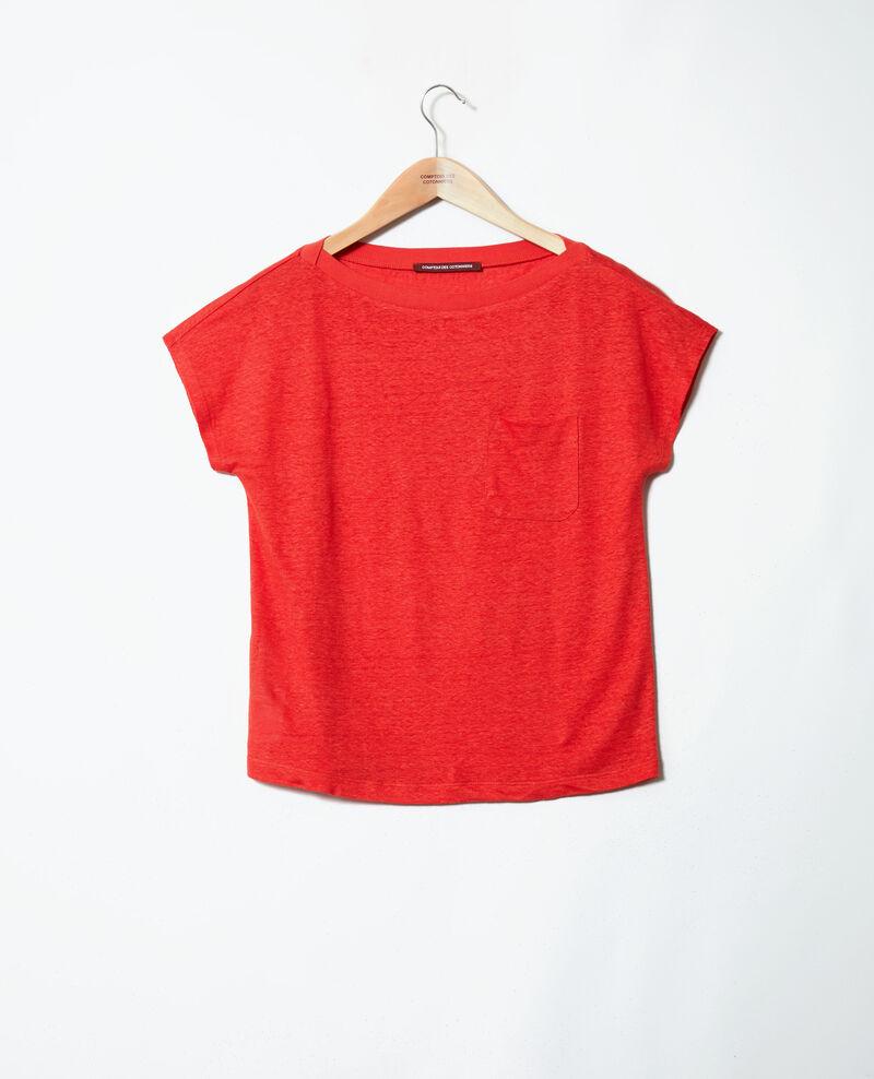 Camiseta de cuello barco Molten lava Jinolita