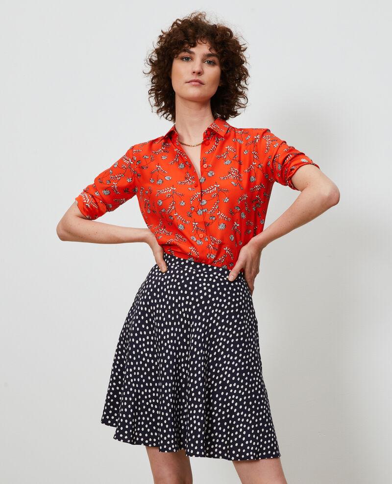 Camisa de seda con estampado Coronille spicy Nabilo