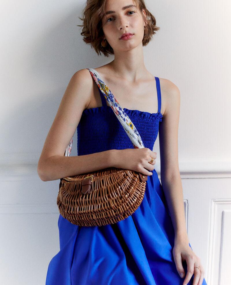 Vestido largo de algodón y seda Royal blue Nassandrou
