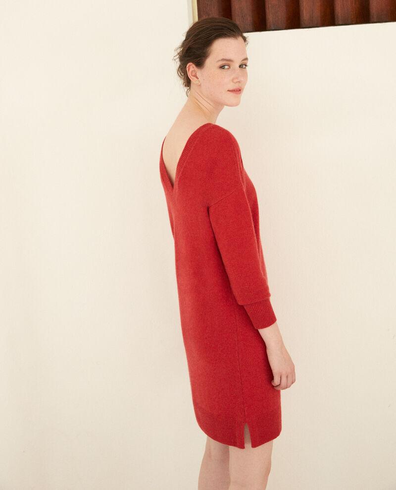 Vestido de cachemir Pompeian red Gervina