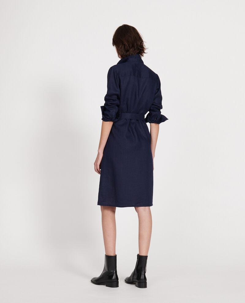 Vestido de lino Maritime blue Lesprit