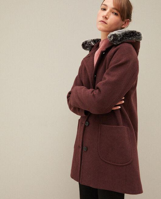 Abrigo con capucha Marrón