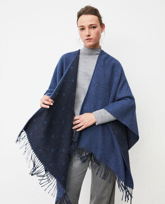 Capa con lana Azul