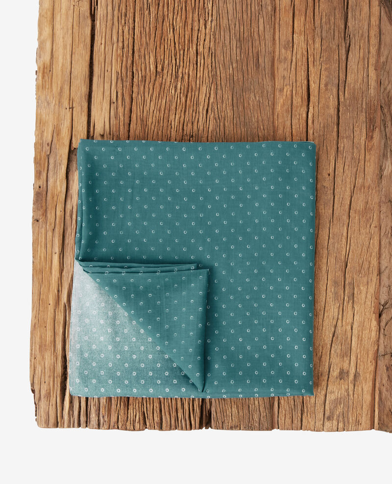 Fular estampado de algodón y seda Ring dots peppermint Forban