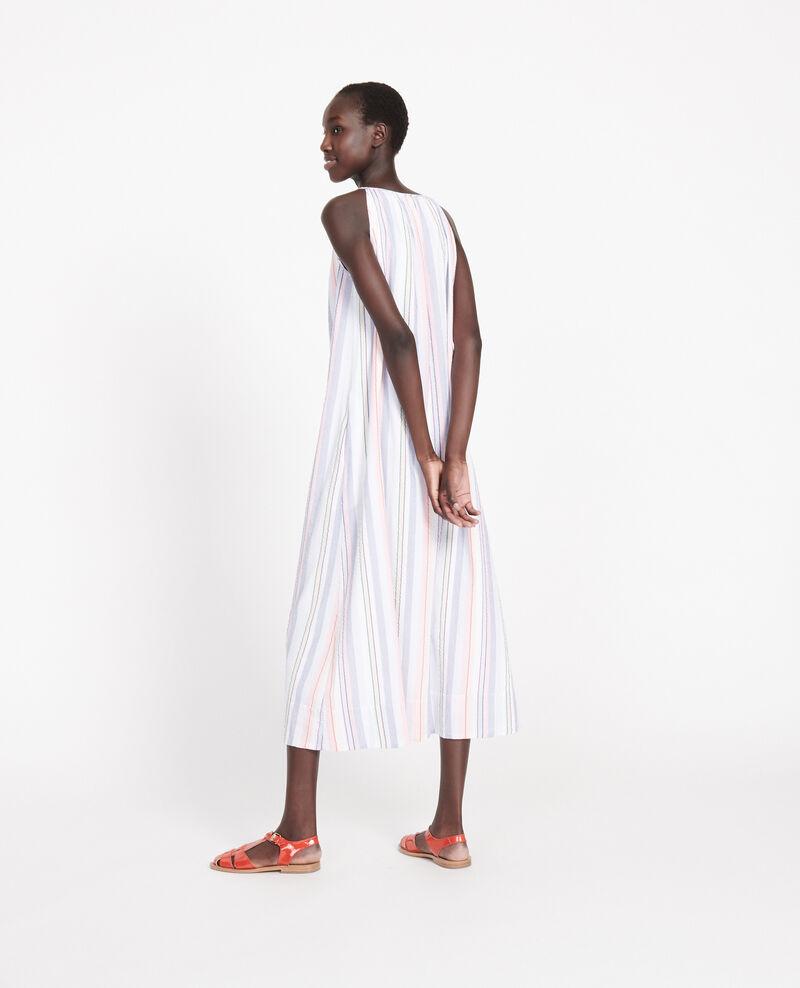 Vestido largo de algodón Stripes multico Lallure