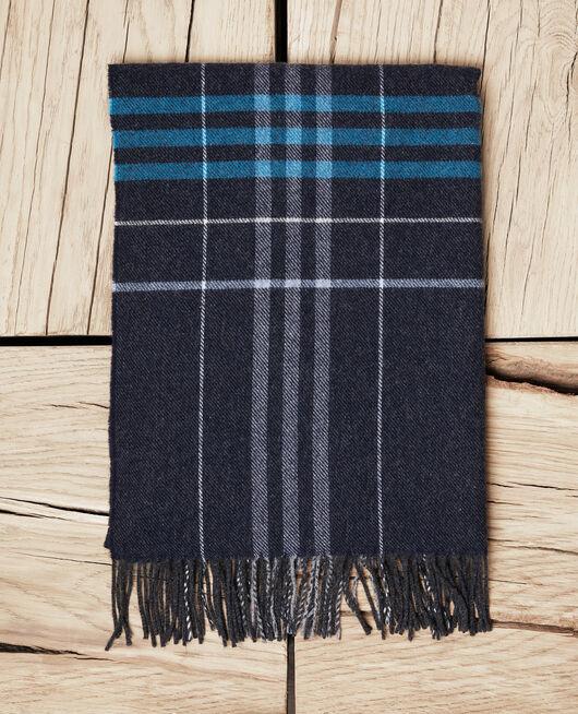 Bufanda estampado escocés BLEU