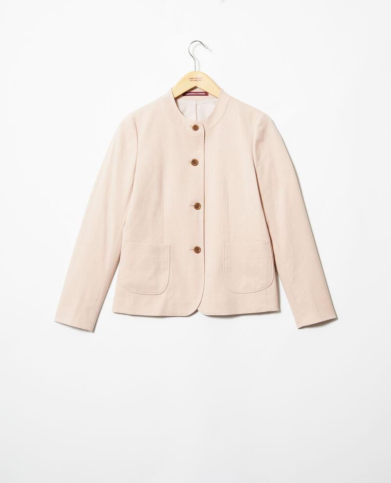 Chaqueta de cuello redondo Pink beige Illana