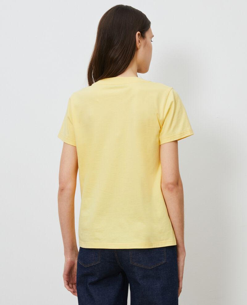Camiseta de algodón manga corta Lemon drop Mae