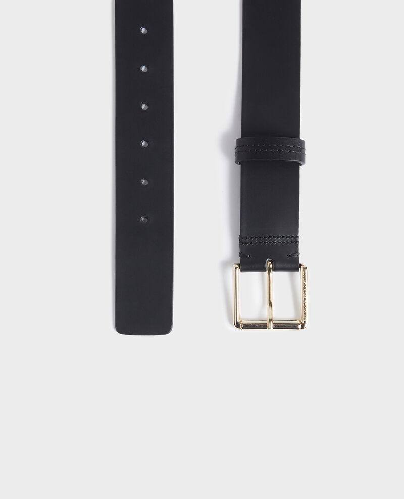Cinturón ancho de cuero Black beauty Narcis