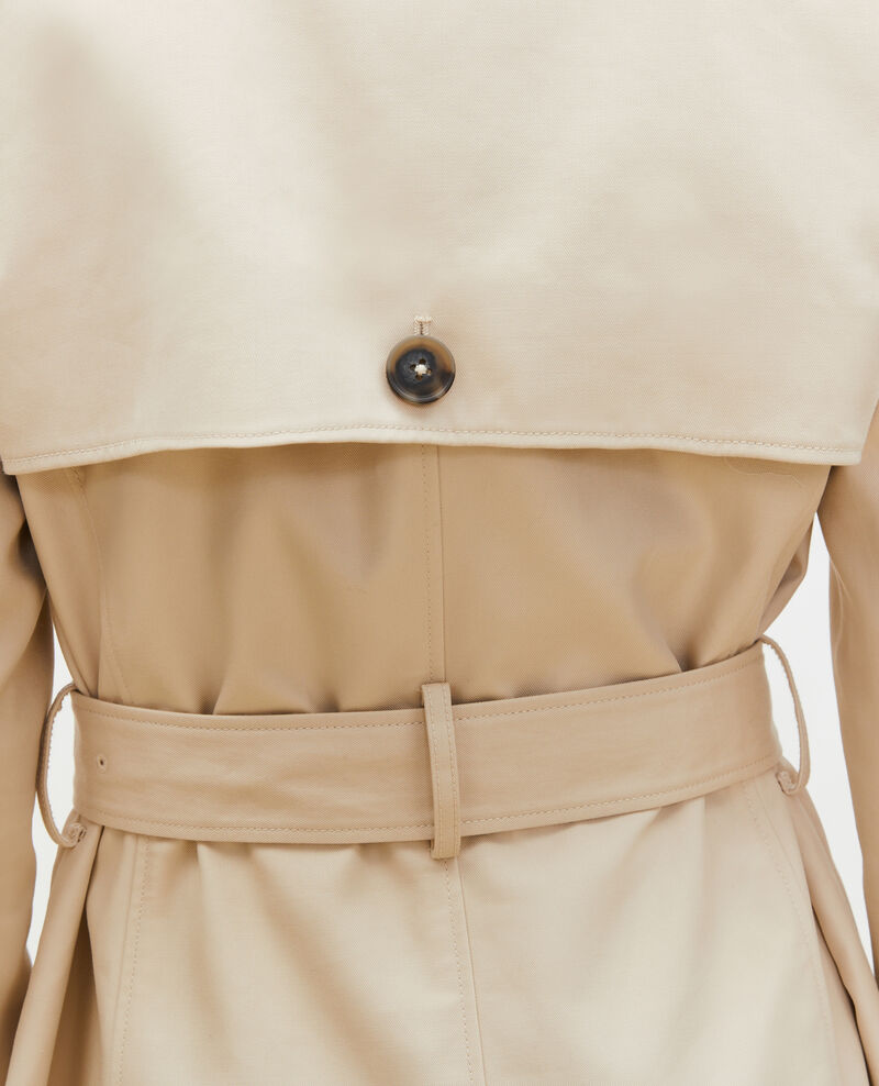Trench de algodón con cinturón longitud media Smoke gray Mambert