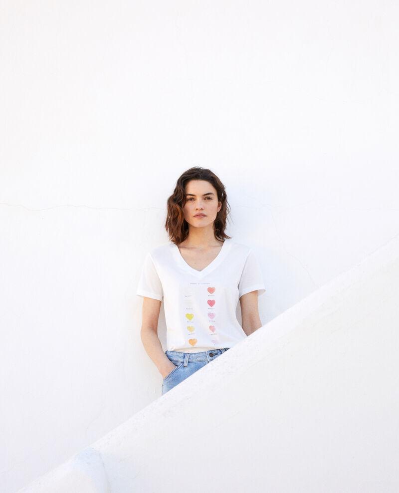 Camiseta en gama de colores Off white Iga
