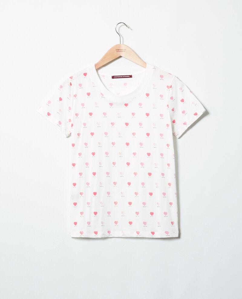 Camiseta estampado de corazón Off white Ired