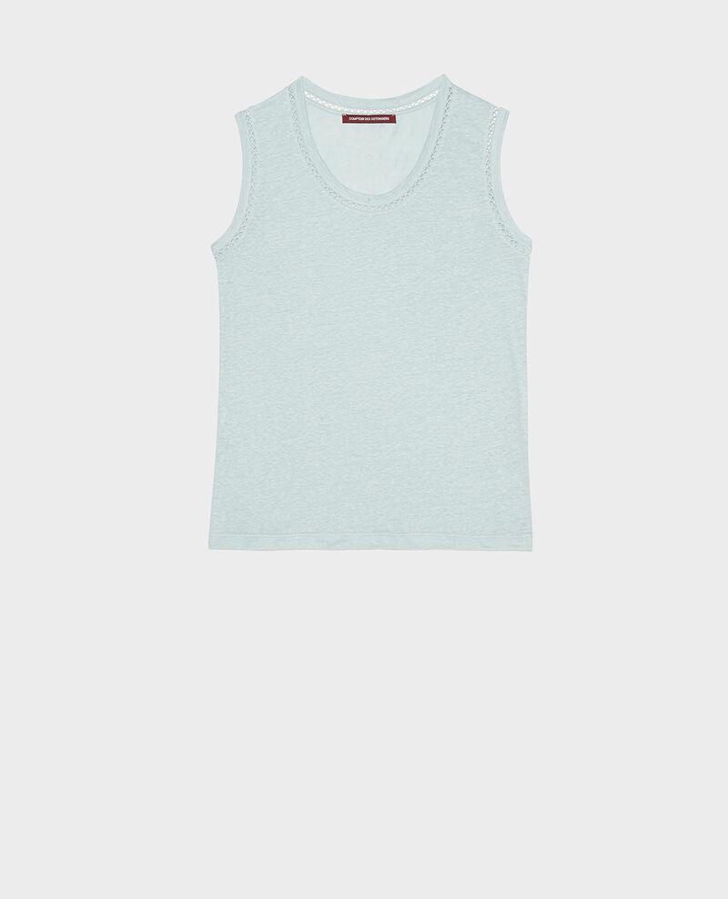 Camiseta de lino de jersey con tirantes Blue haze Lespa