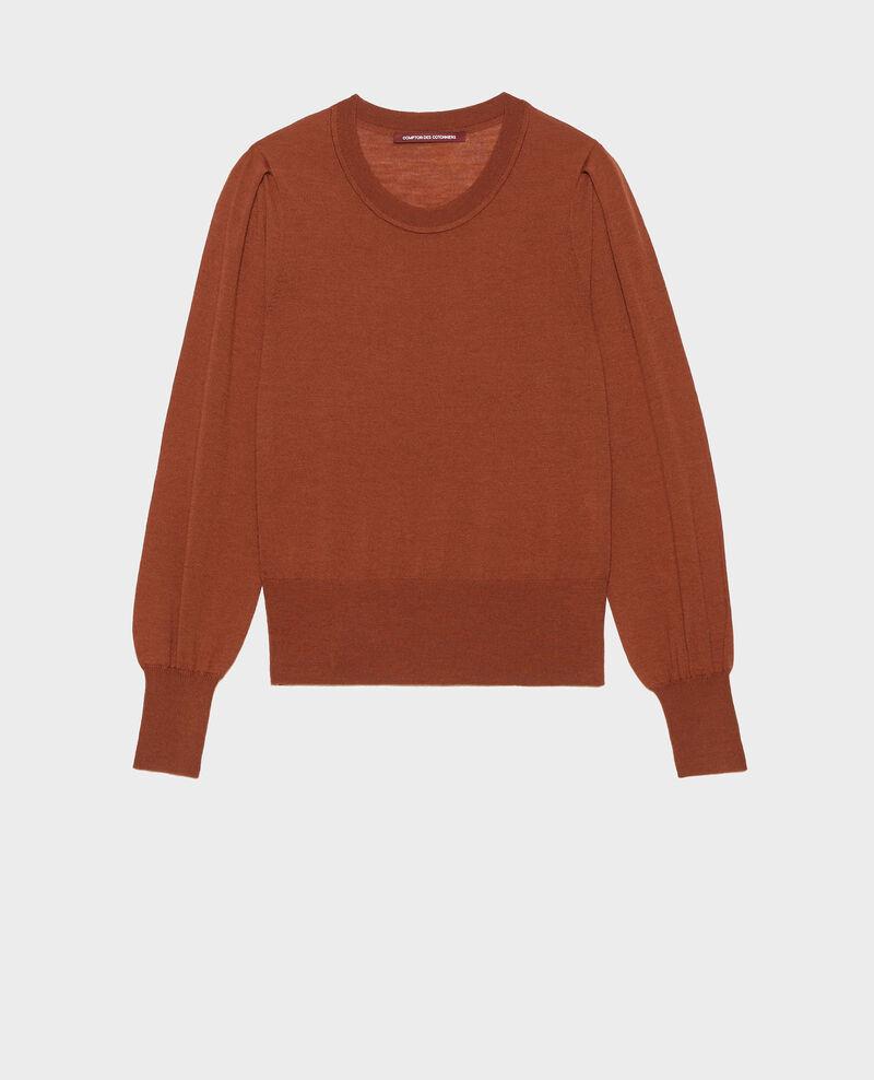 Jersey de lana merino con cuello redondo Tortoise shell Molineta