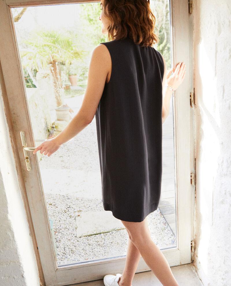 Vestido con tira desmontable Noir Iolandi