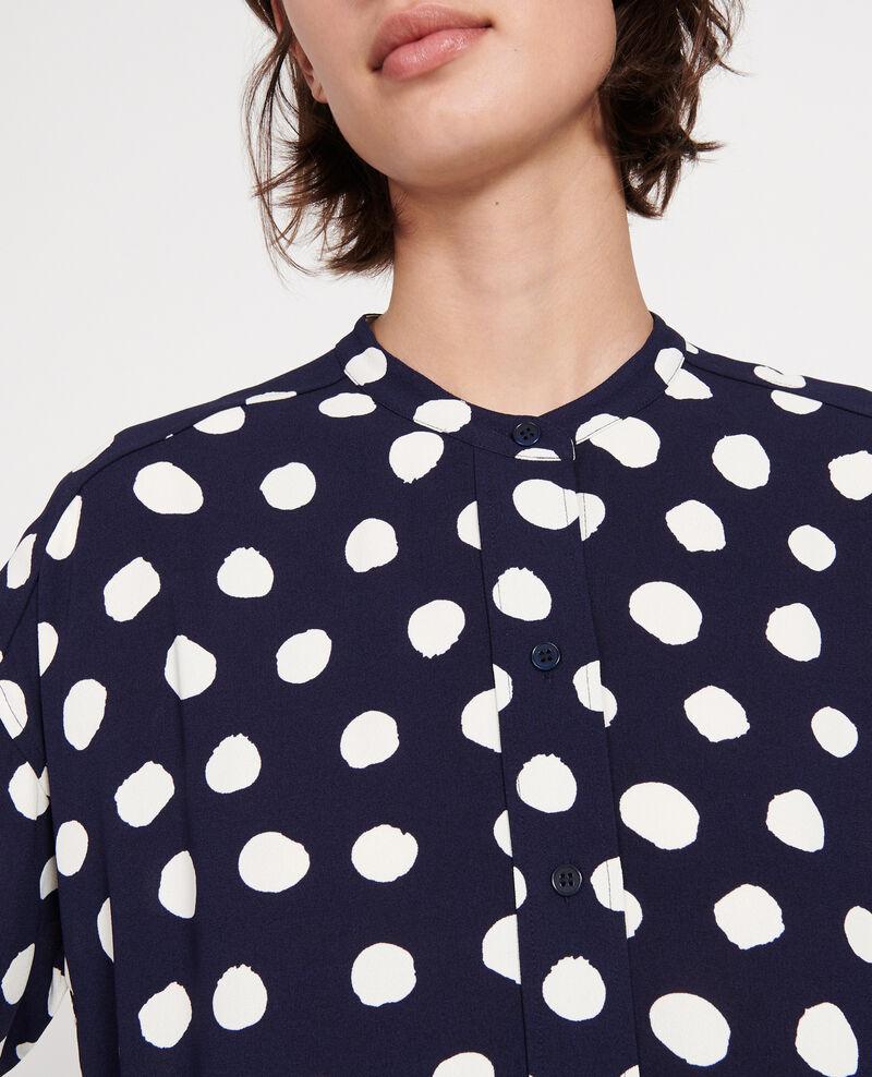 Blusa de corte recto Dots maritime blue Lerheu