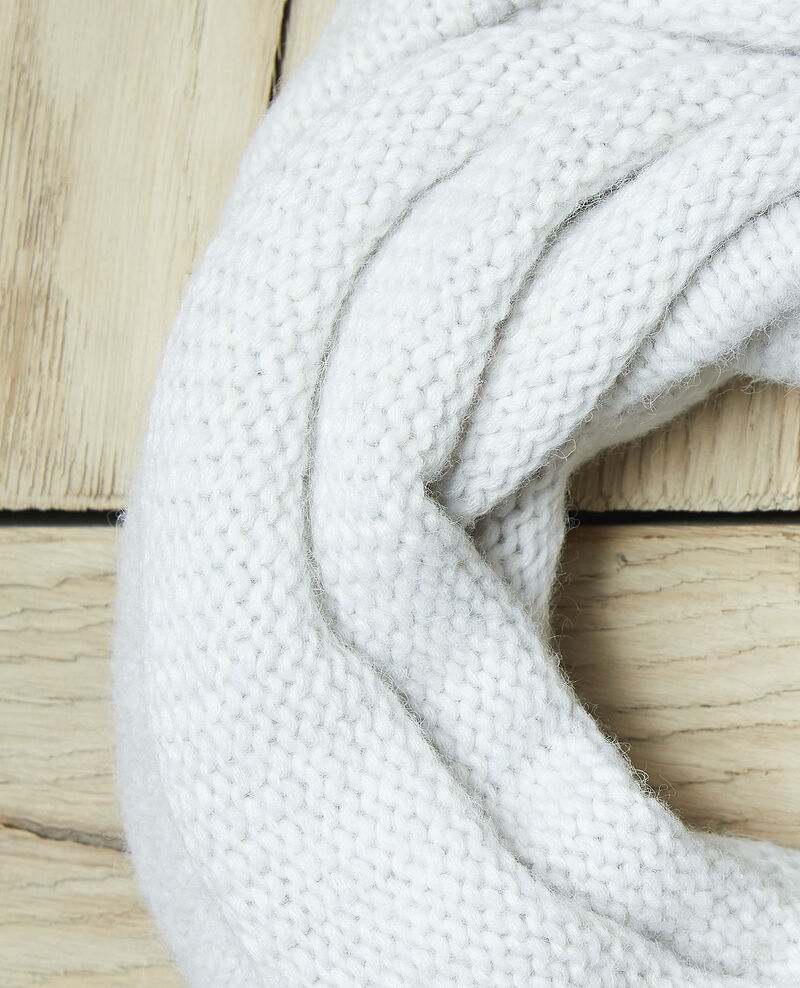 Bufanda gruesa de punto Blanco Glas