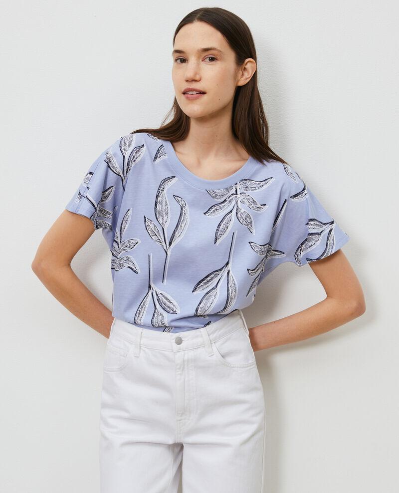 Camiseta de algodón con cuello redondo Prt bot heron Nimeric