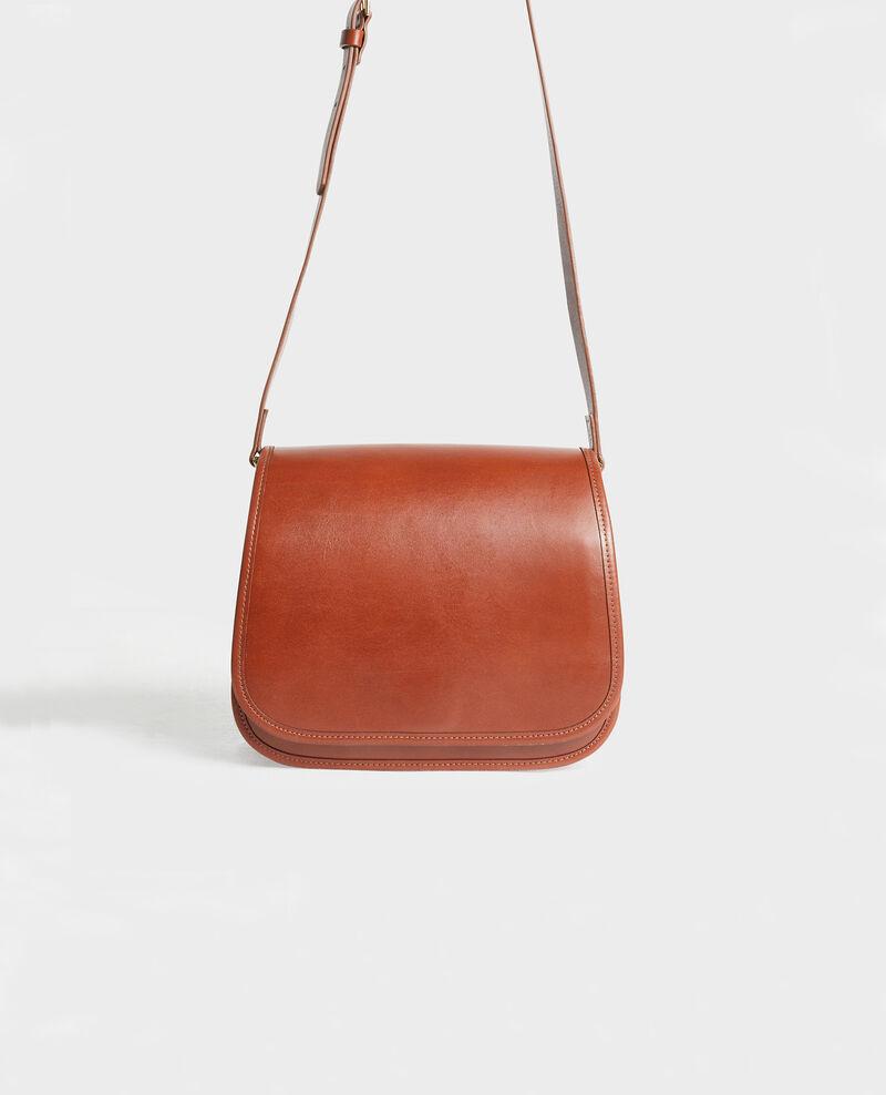 Bolso con correa de cuero Camel Mauriac