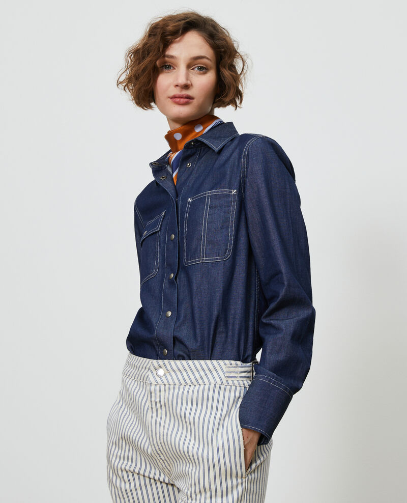 Camisa vaquera con bolsillos Denim brut Nadigne