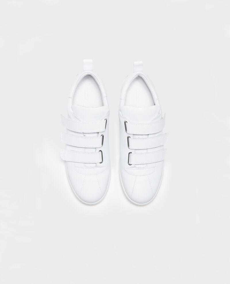 Sneakers de cuero con tiras de velcro Optical white Leader