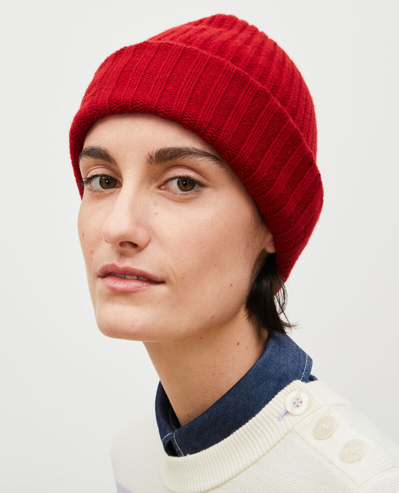"""Gorro de lana con las letras """"CDC"""" bordadas Royale red Moeze"""