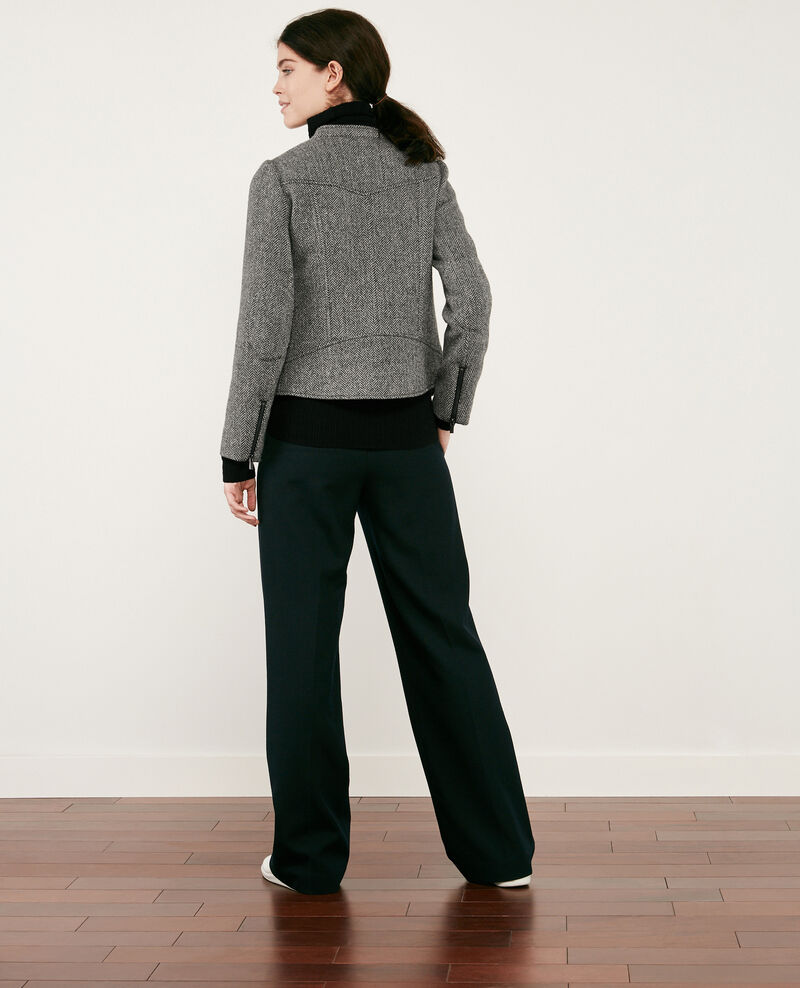 Chaqueta de tweed con lana estilo biker Medium heather grey Drible