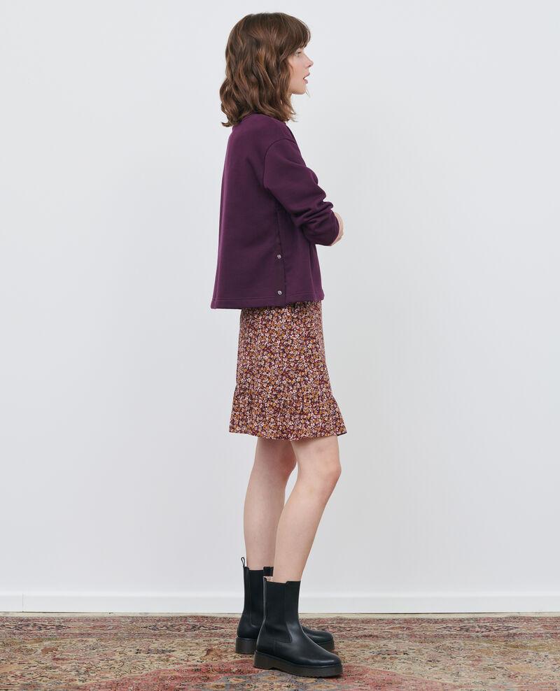 Falda cruzada corta de seda Liberty cabernet Palongue