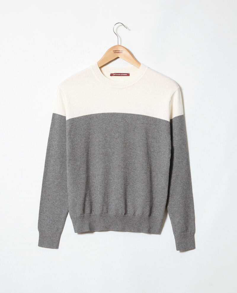 Jersey bicolor Medium heather grey Ilene