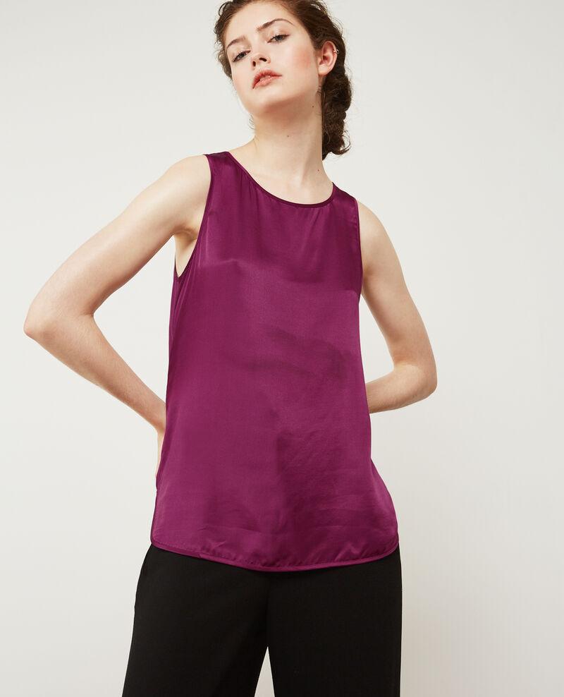 Camiseta de dos tejidos con seda Dark peony Dicton