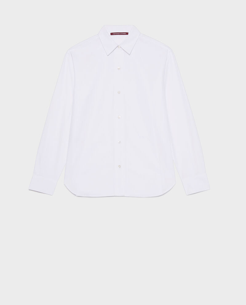 Camisa boyish de algodón Optical white Lynda