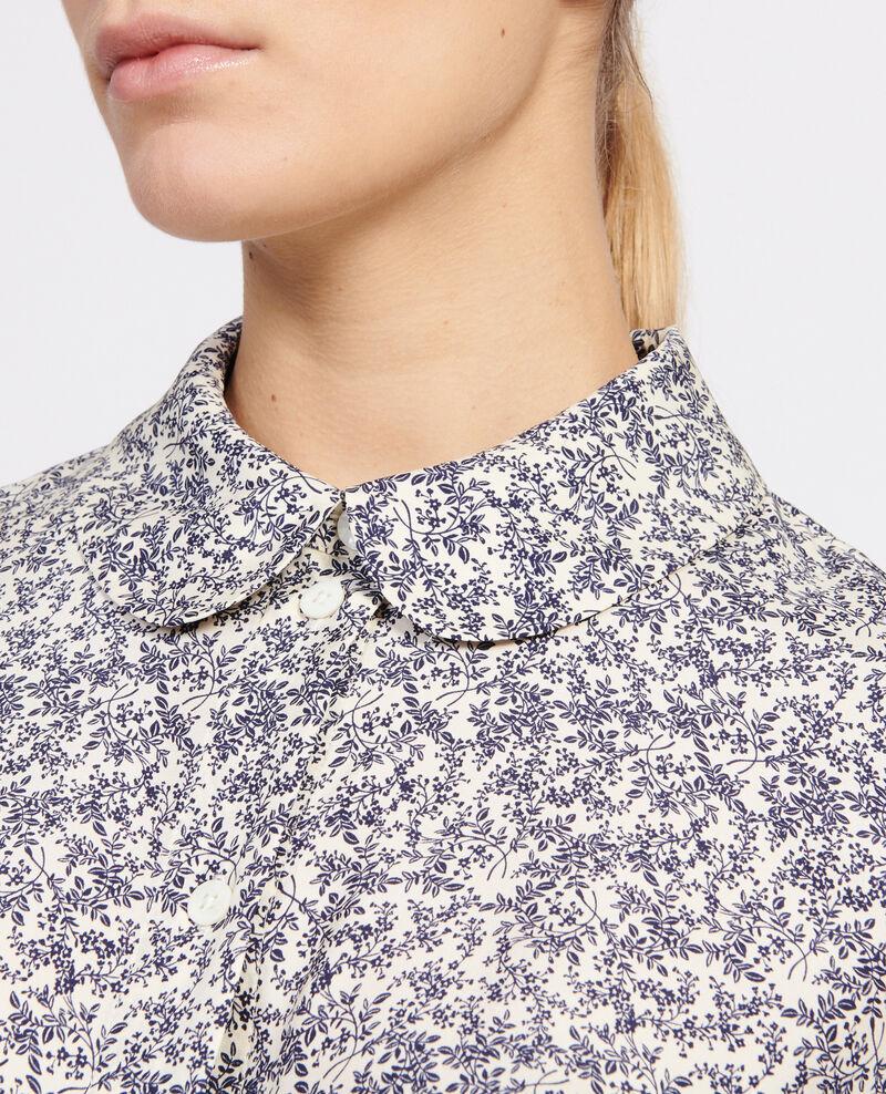 Camisa con estampados Feuillage off white Laloun