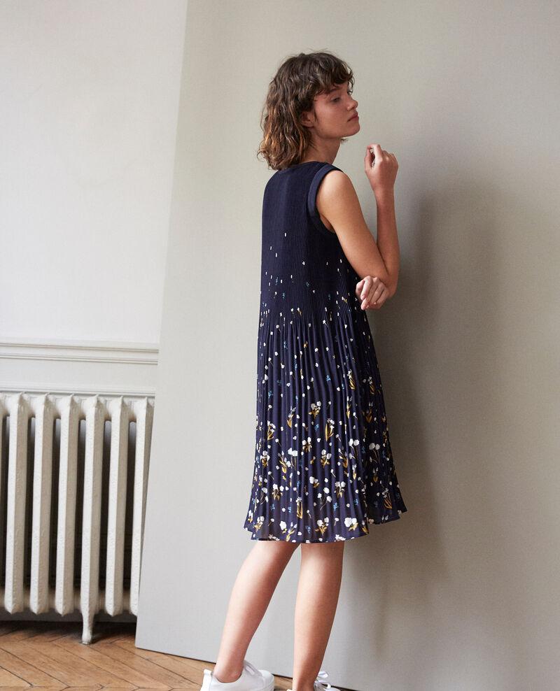 Vestido plisado Azul Garance