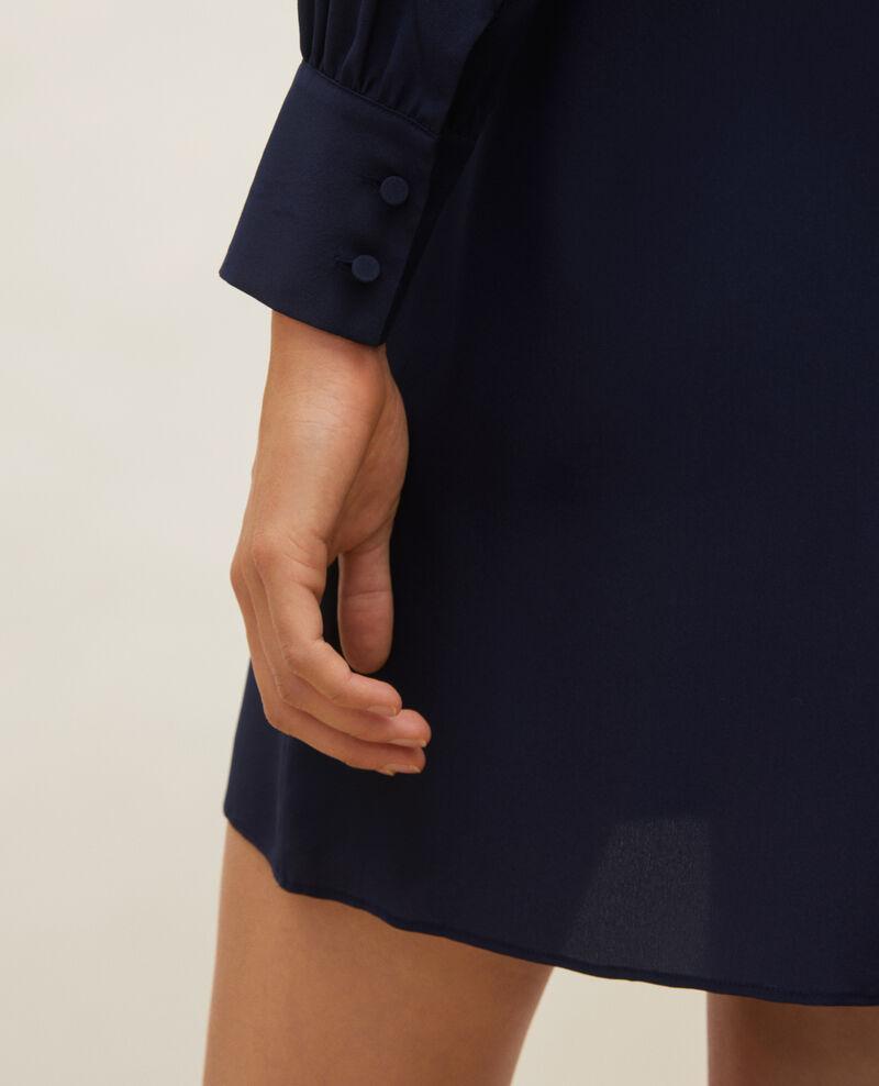 Vestido de seda amplio y corto Maritime blue Lamax