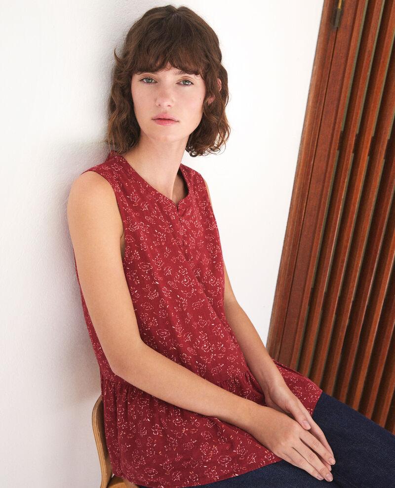 Blusa sin mangas Rojo Gascon