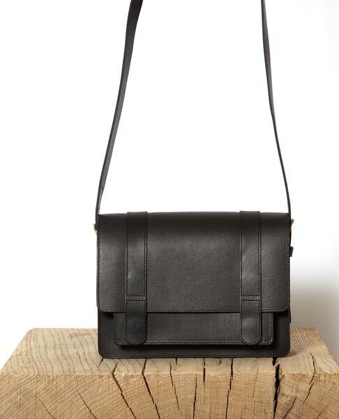 Comptoir des Cotonniers - Bolso de piel lisa tamaño pequeño Noir - 2